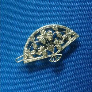 Vintage Flower Fan Hair Clip